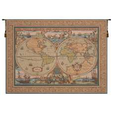 Maritime Map French Tapestry Wall Hanging