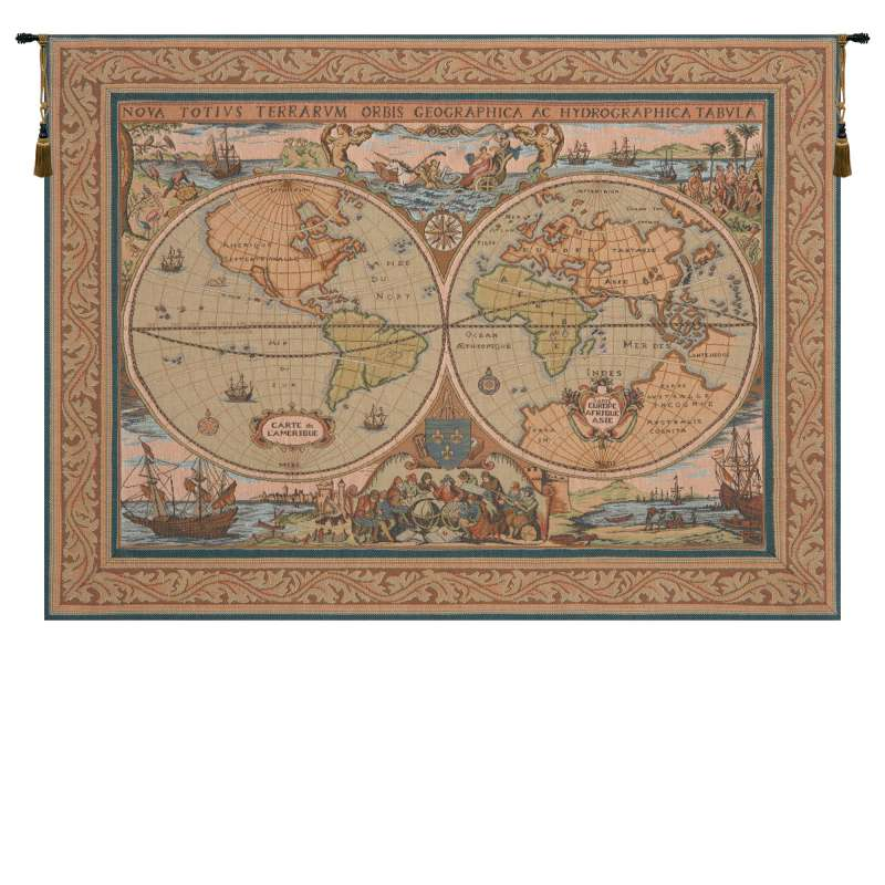 Maritime Map French Tapestry