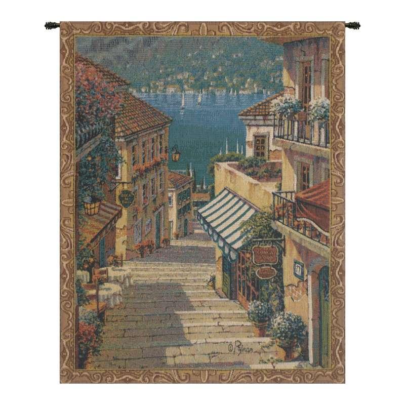 Bellagio Village Mini Belgian Tapestry Wall Hanging