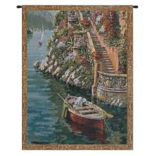 Lake Como Villa Mini Belgian Tapestry Wall Hanging