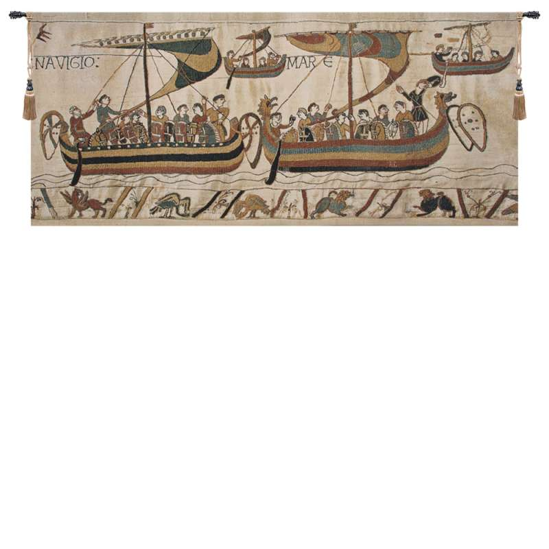 Bayeux Navigio Belgian Tapestry Wall Hanging