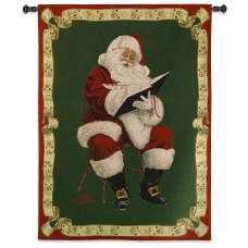 Santa's Notes Holiday Tapestry Wall Hanging