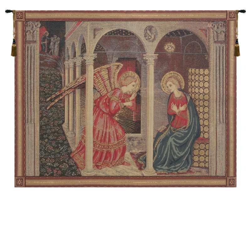Annunciation with gold lurex European Tapestries