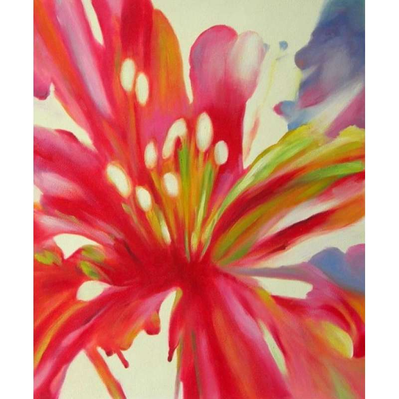 Lily Blossom Canvas Oil Painting