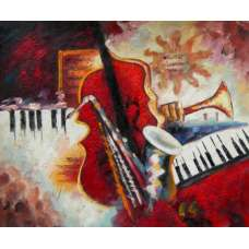Instruments Of Music I Canvas Oil Painting