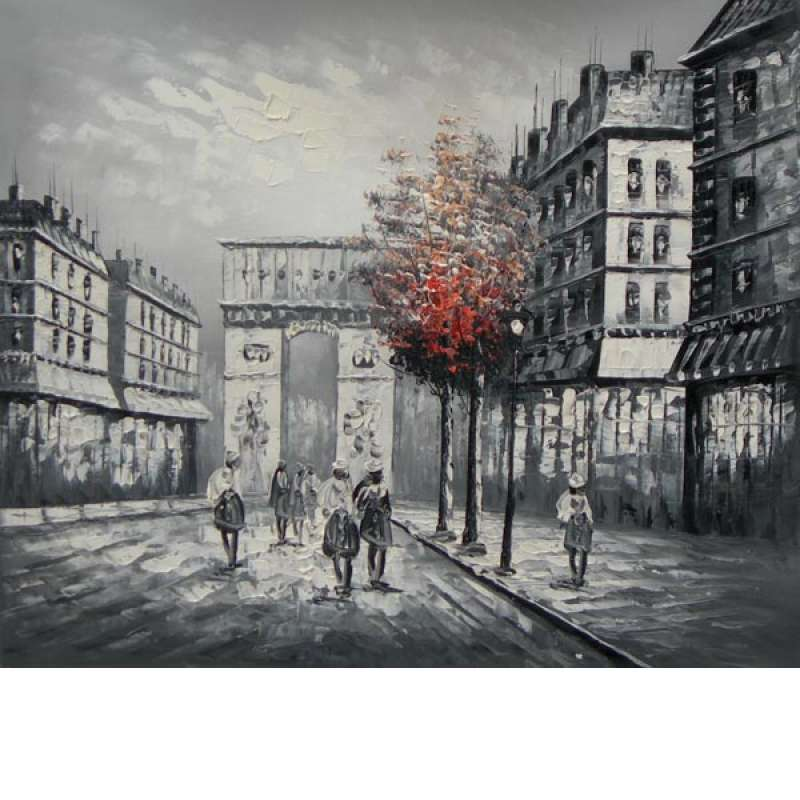 Paris Street Canvas Oil Painting