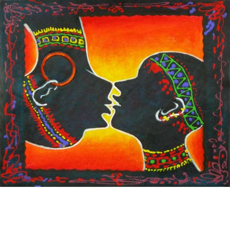 Silhouettes of Love Canvas Oil Painting