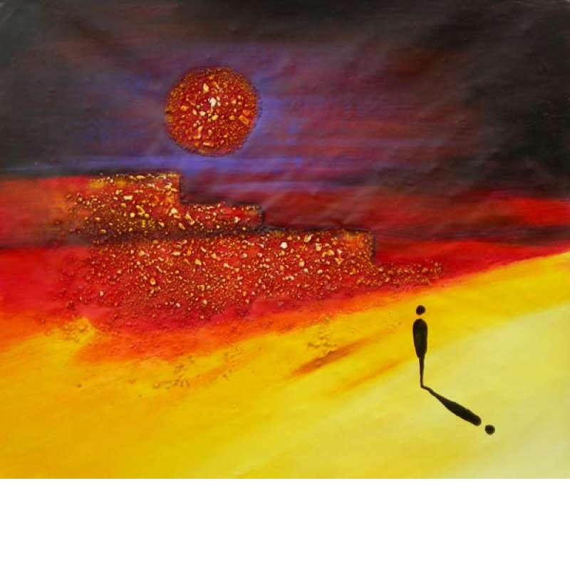 Alone with the Midnight Sun Canvas Oil Painting
