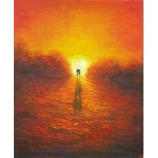 Evening Glow Canvas Wall Art