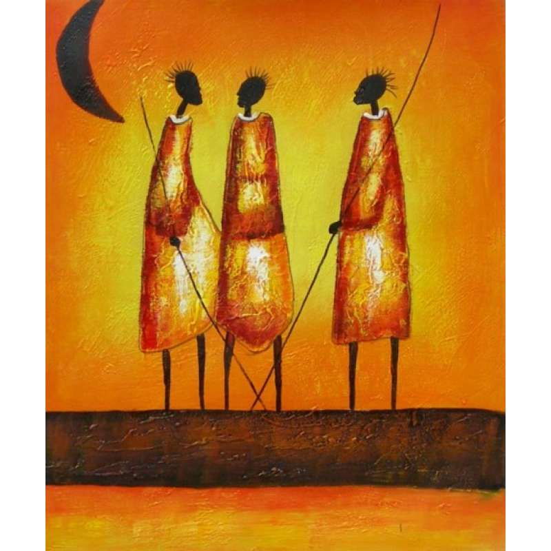 Hunters Gathered Canvas Oil Painting