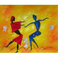 Dancing Fools Canvas Oil Painting