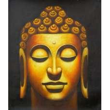 Bronze Buddha Canvas Oil Painting