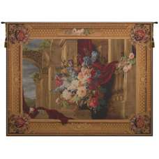Bouquet Et Architecture Horizontal French Tapestry