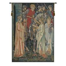 The Holy Grail Left Panel European Tapestry