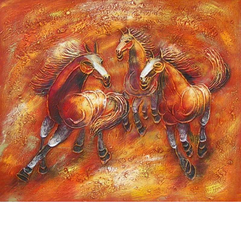 Wild Horses I Canvas Oil Painting