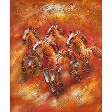 Wild Horses II Canvas Oil Painting