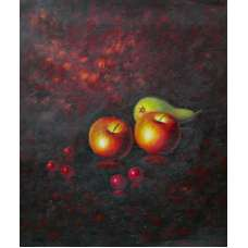 Apples and Pear Canvas Oil Painting
