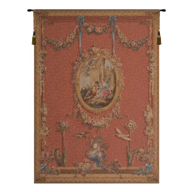 Medallion Serenade Rouge French Tapestry