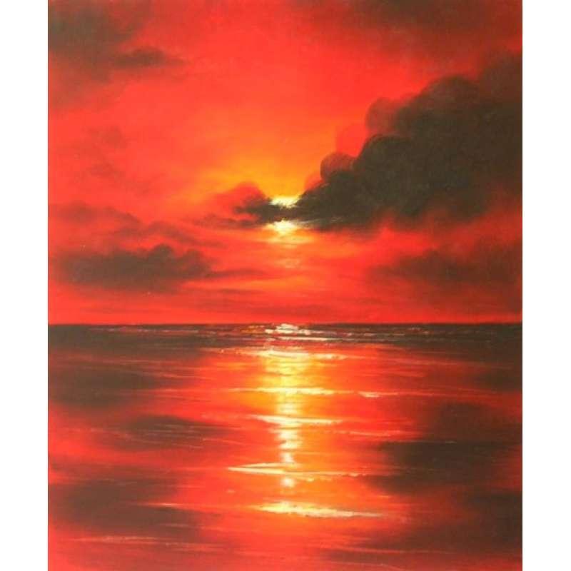 Sea of Fire Canvas Wall Art