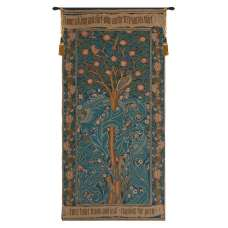 Woodpecker with Verse French Tapestry