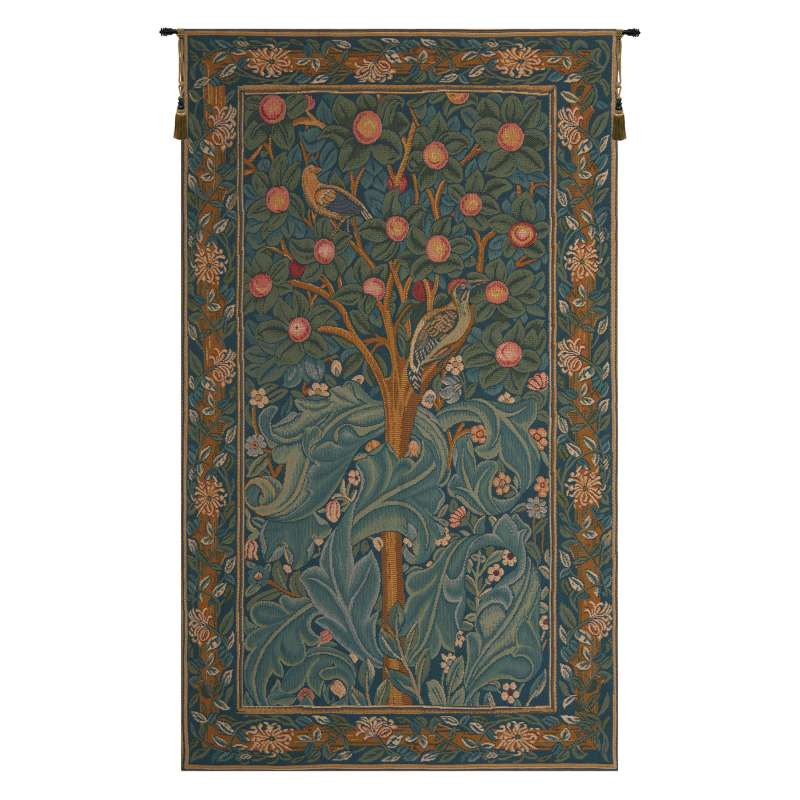 Woodpecker without Verse French Tapestry Wall Hanging