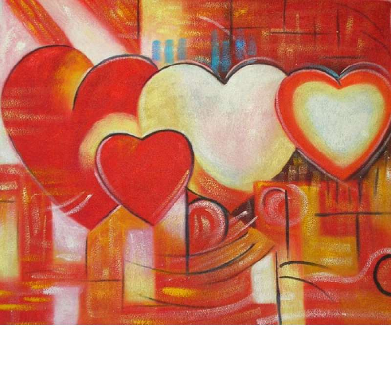 All Hearts Canvas Oil Painting