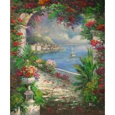 Garden Archway Canvas Oil Painting