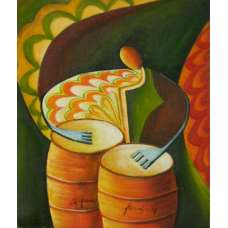 The Bongo Player Canvas Oil Painting
