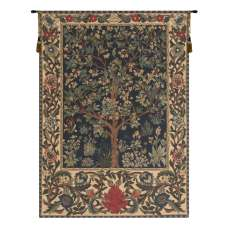Tree of Life I European Tapestry Wall Hanging