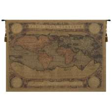 Antique Map European Tapestry