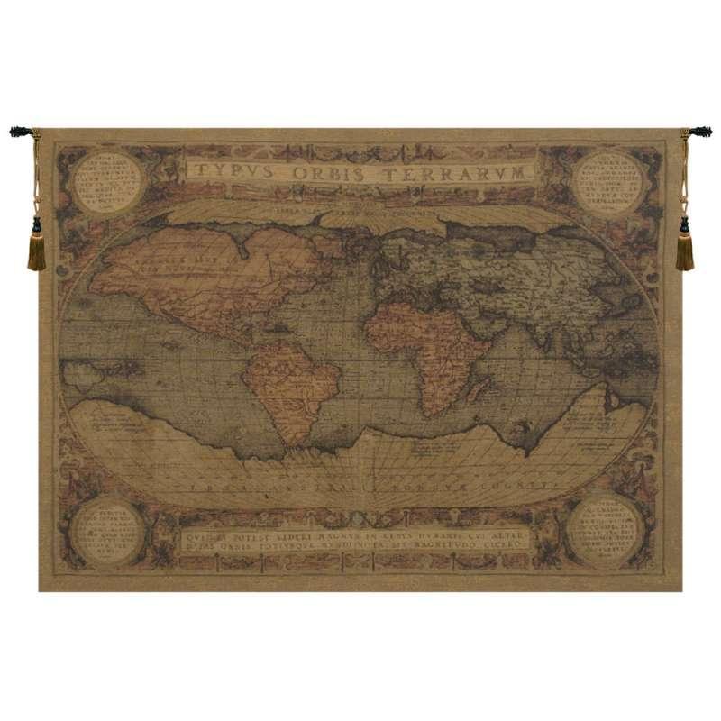 Antique Map European Tapestry