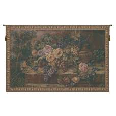 Bouquet with Grapes Green Italian Tapestry