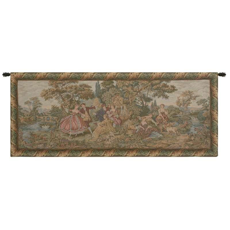 Scenes Galantes Italian Tapestry Wall Hanging