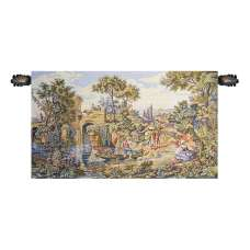 Traghetto Ferry Crossing Italian Tapestry Wall Hanging
