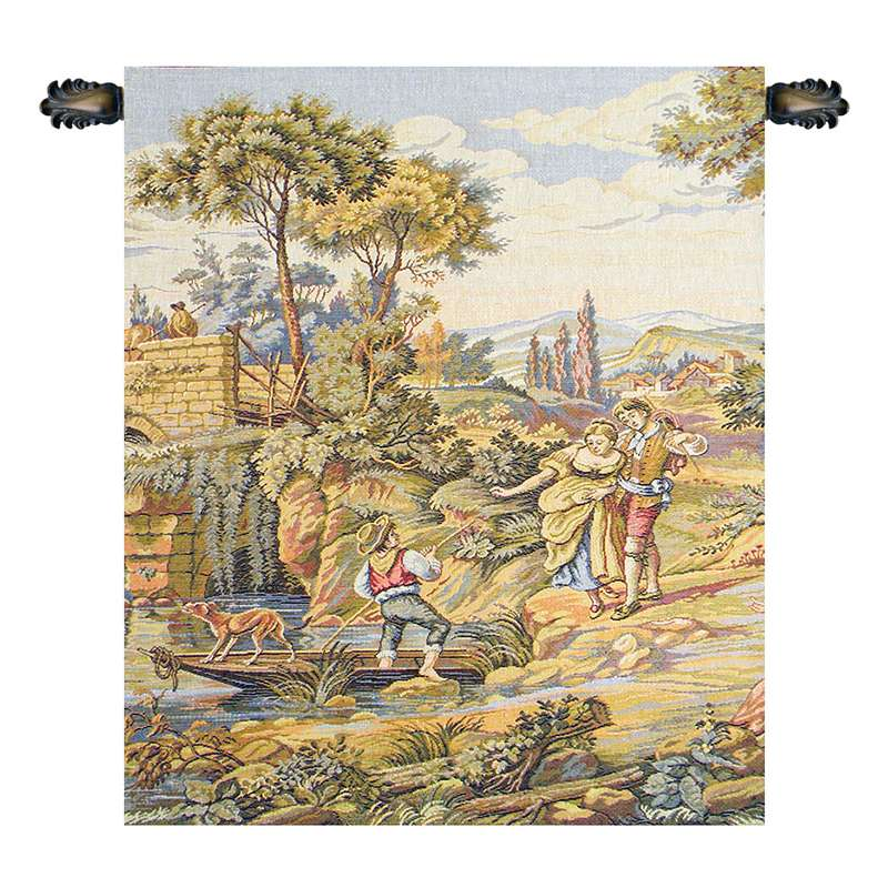 Barcaiolo Italian Tapestry Wall Hanging