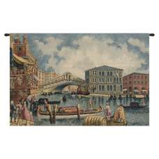 Ponte Di Rialto II Italian Tapestry Wall Hanging