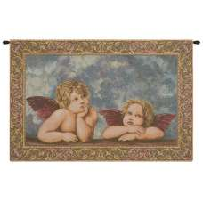 Raffaello's Angels Italian Tapestry Wall Hanging