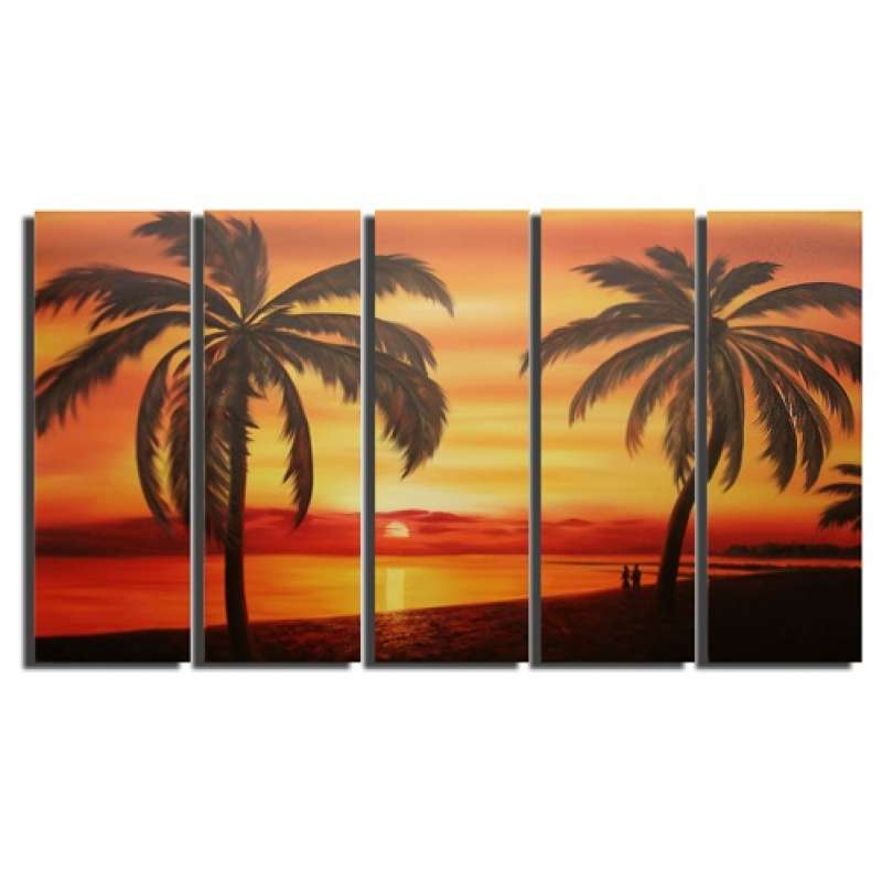 Tropical Silhouettes Canvas Art