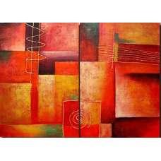 Red Tones Canvas Art