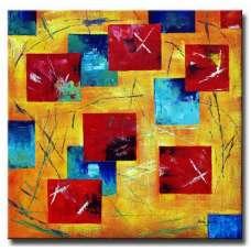 Multicolored Scatter Canvas Art