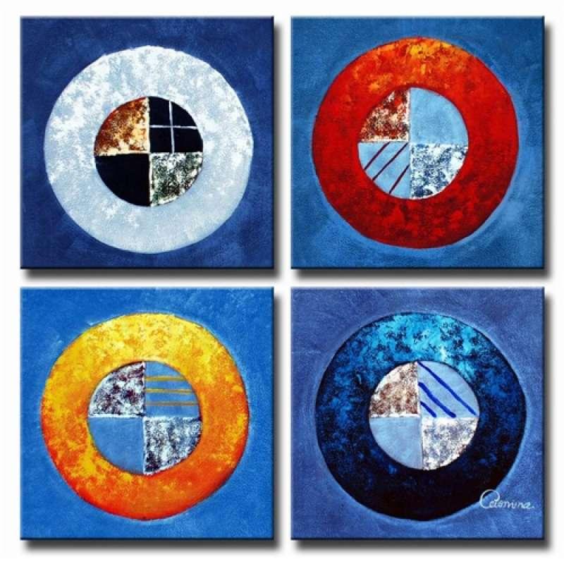 Circles and Squares Canvas Art