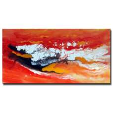 Red Meeds Orange Canvas Art