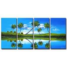 Prehistoric Palms Canvas Art