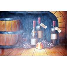 Wine Cellar II Canvas Art