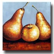 Golden Pears Canvas Art