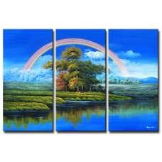Rainbow Over Paradise Canvas Art