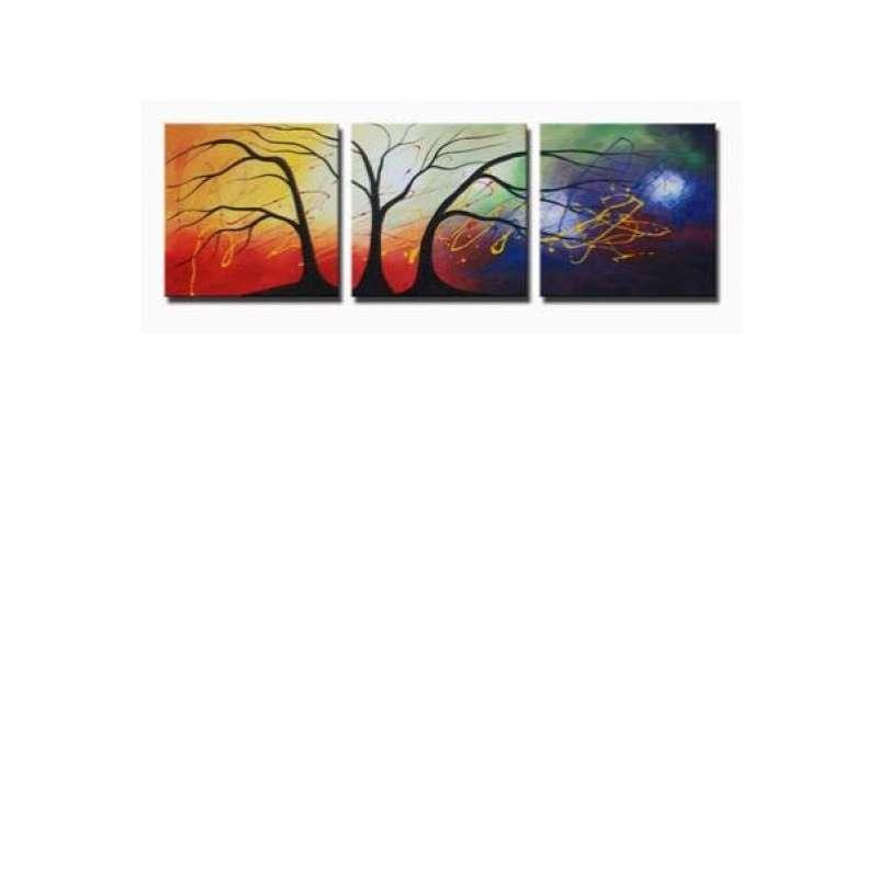 Cosmic Trees Canvas Art