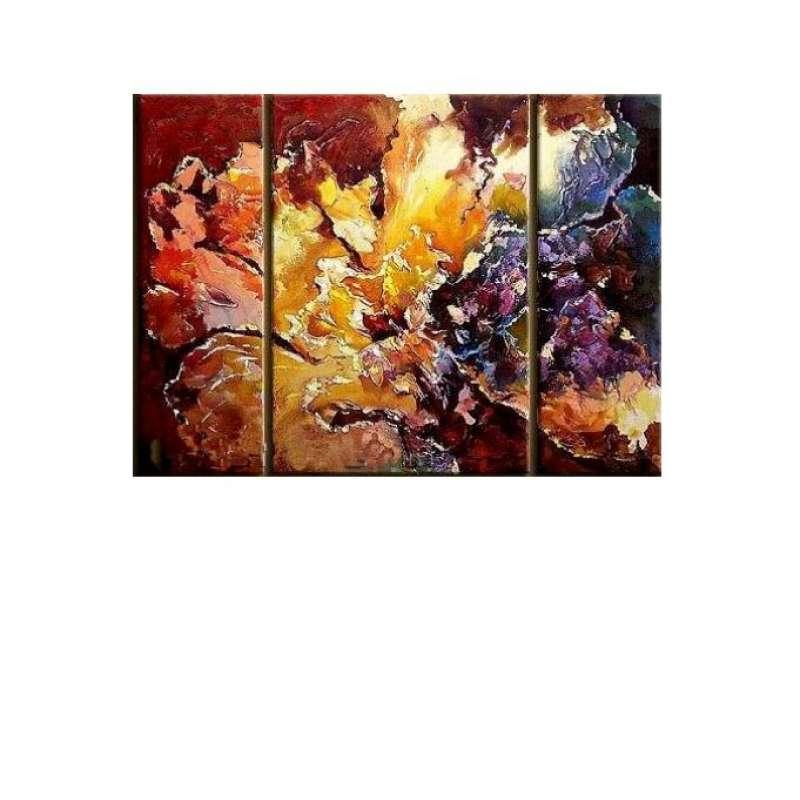Coral Bouquet Canvas Art