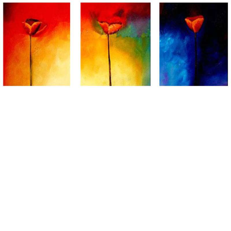Triage of Tulips Canvas Art