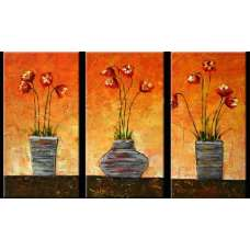 Potted Poppies Canvas Art